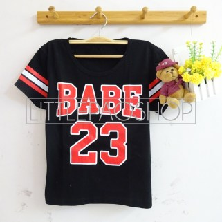 Triple Line BABE Baseball Tee (black)- ecer@40rb - seri 2warna 70rb - kaos - fit to L