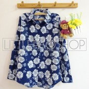 Vintage Sunflower Shirt (navy) - ecer@65rb - seri4pcs(2navy 2black) 240rb - twistcone - fit to L