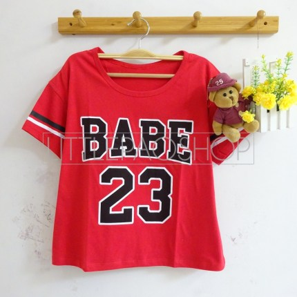 BABE Baseball Tee (red)- ecer@40rb - seri3w 105rb - kaos - fit to L