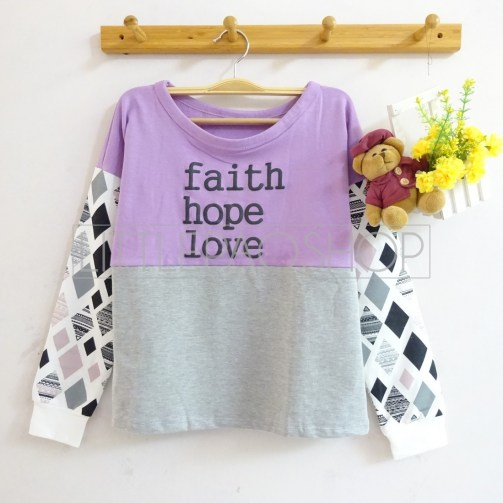 Faith Hope Love Sweater (purple) - ecer@70rb - seri4w 260rb - babyterry - fit to L