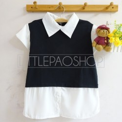 Schoolgirl Top (black) - ecer@70rb - seri4pcs(2black2grey) 260rb - fit to L