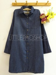 Shiho Denim Tunic (dark) - ecer@80rb - seri3w 225rb - denim - fit to L