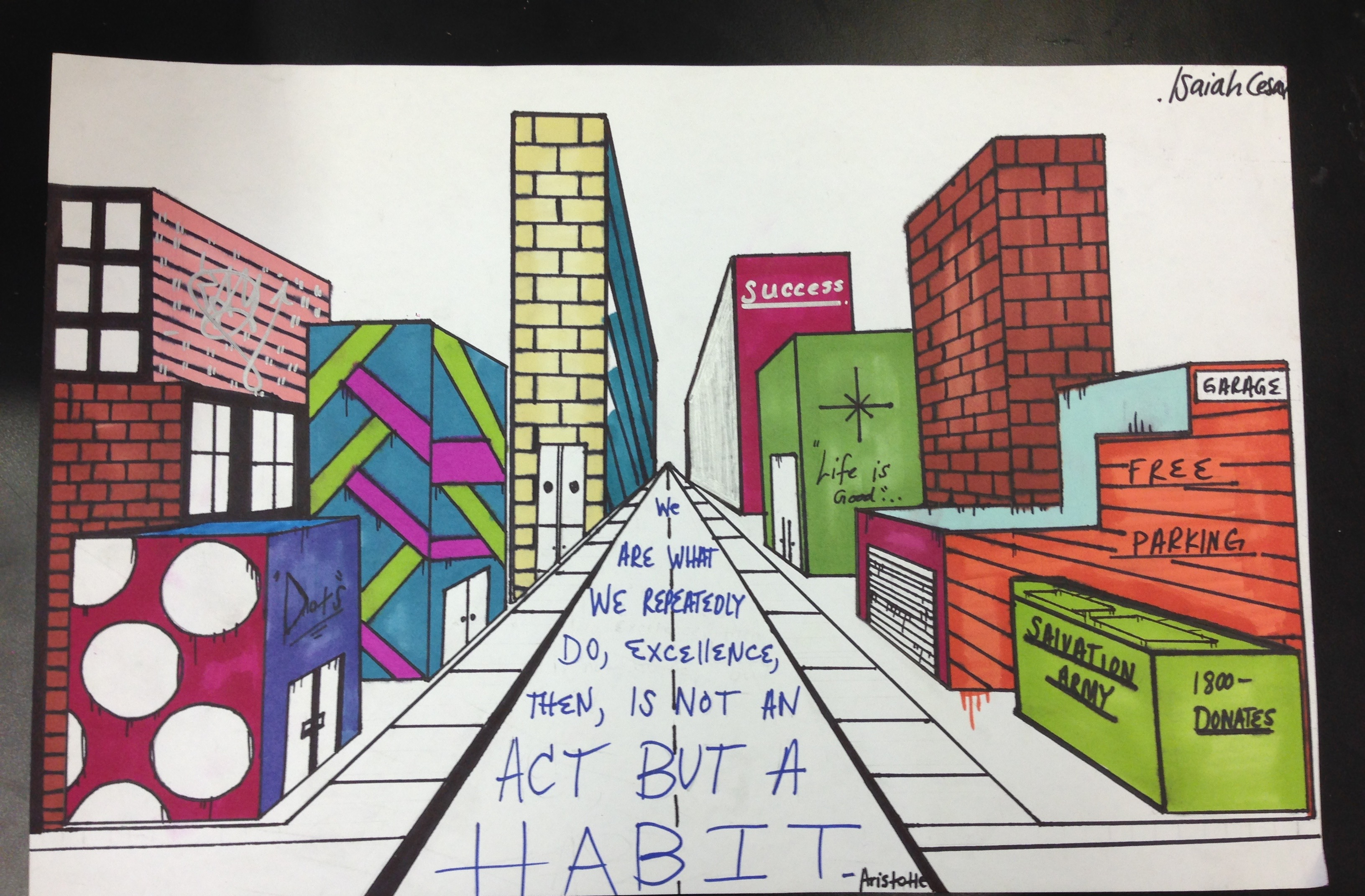 The Smartteacher Resource One Point Perspective Cityscape
