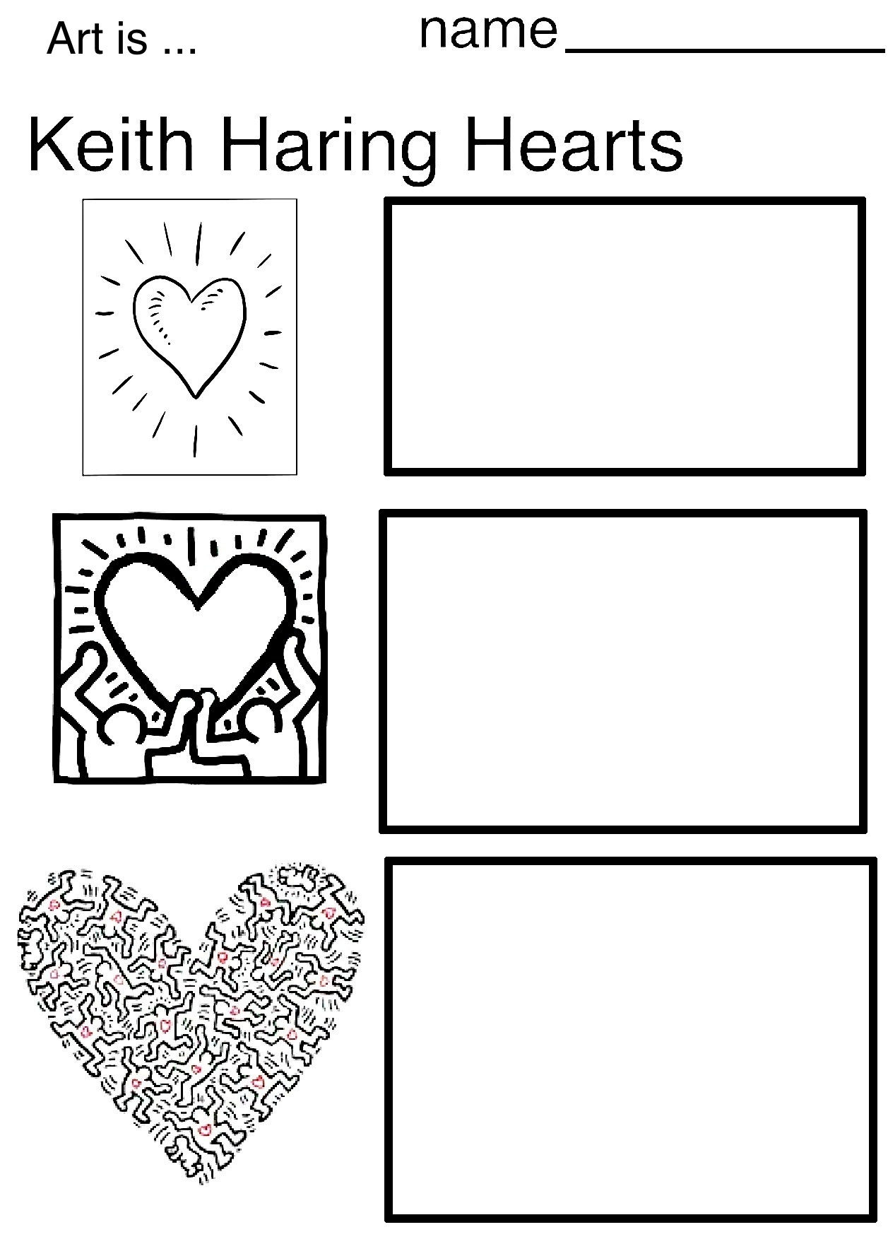 The Smartteacher Resource Keith Haring Hearts Amp Dogs