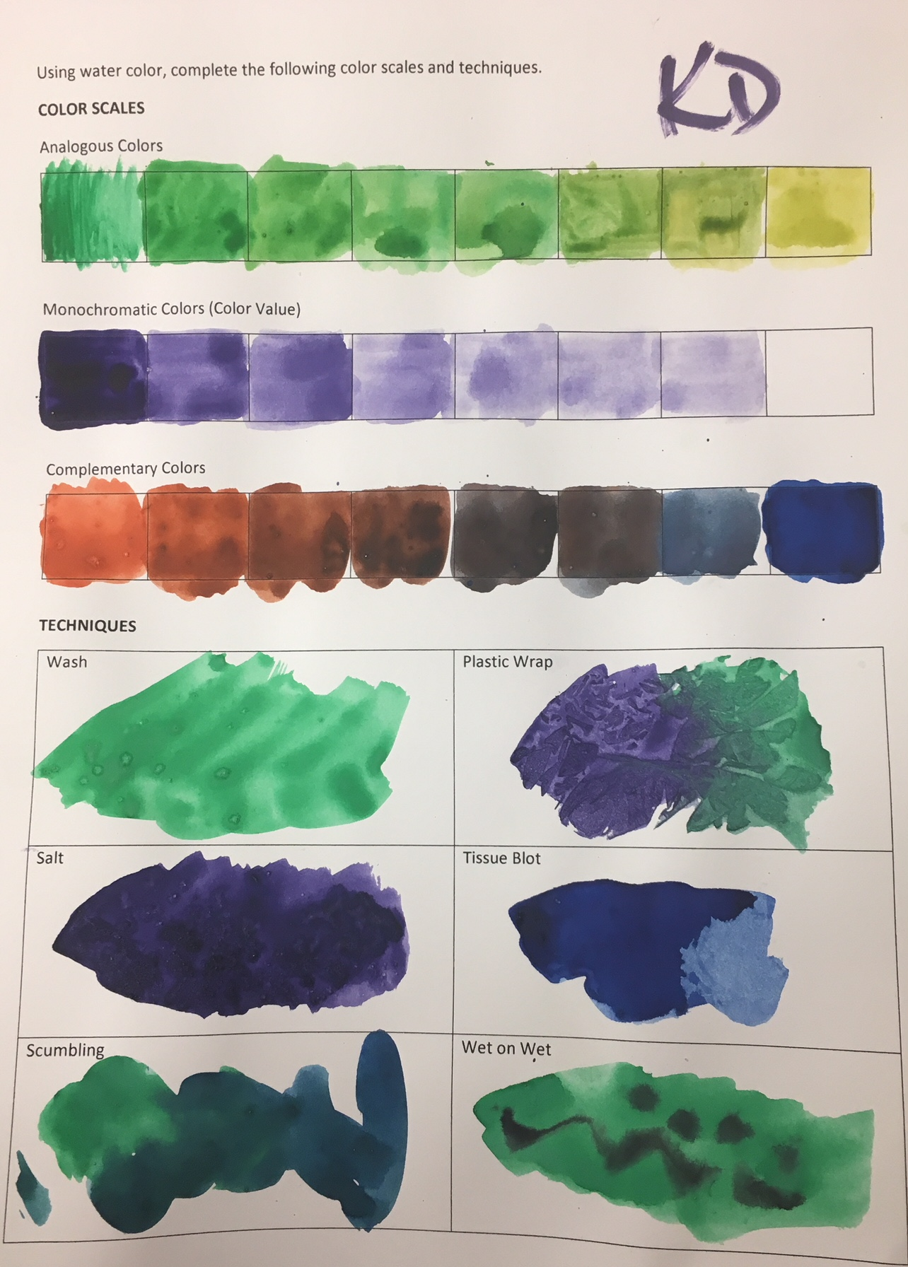 The Smartteacher Resource Watercolor Color Scales And