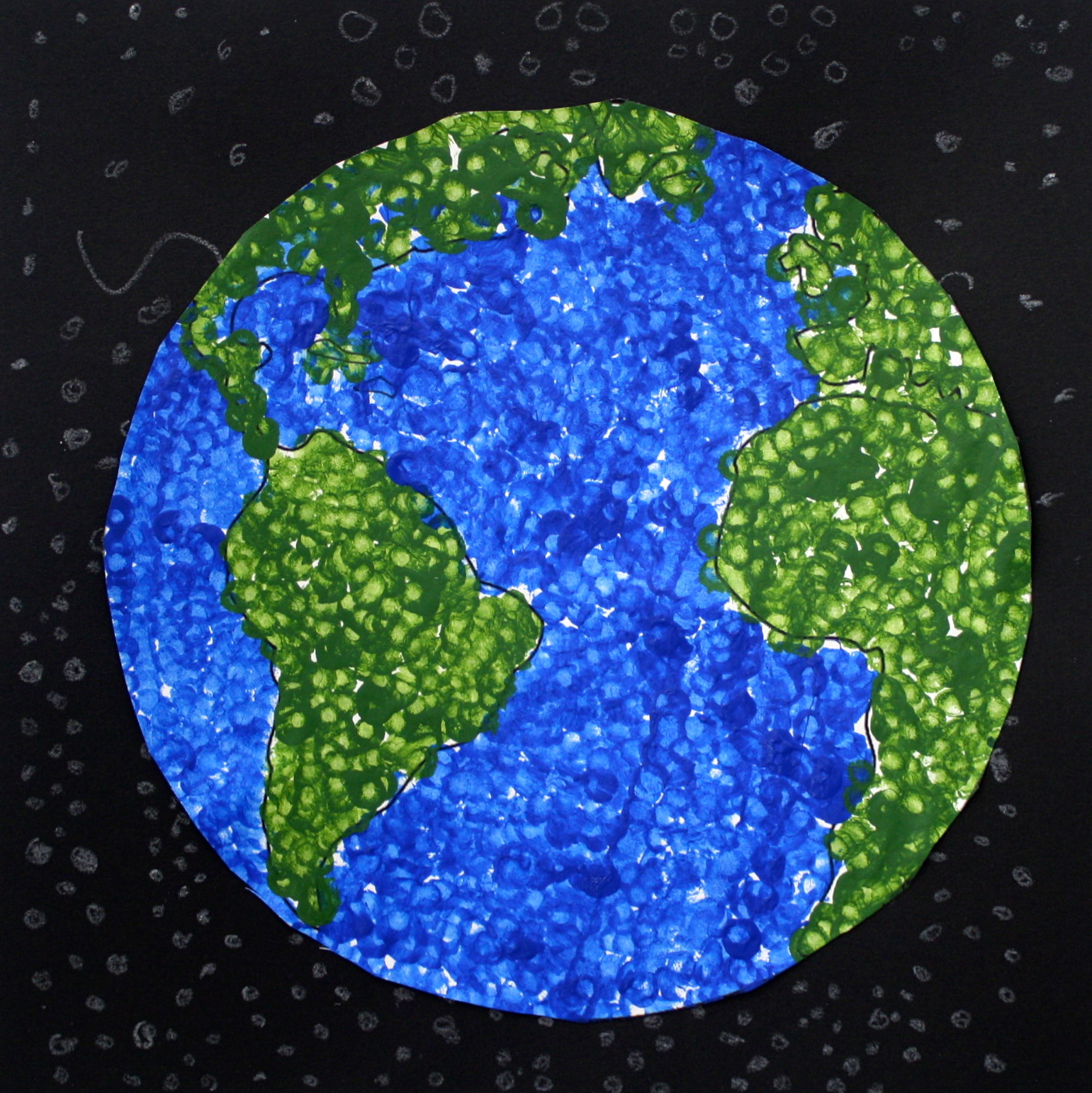 The Smartteacher Resource Earth Day Dot Painting