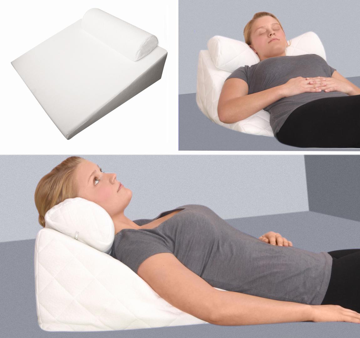 gel foam mini wedge pillow reflux raising reading pillow with neck roll hardness 1 2 soft medium
