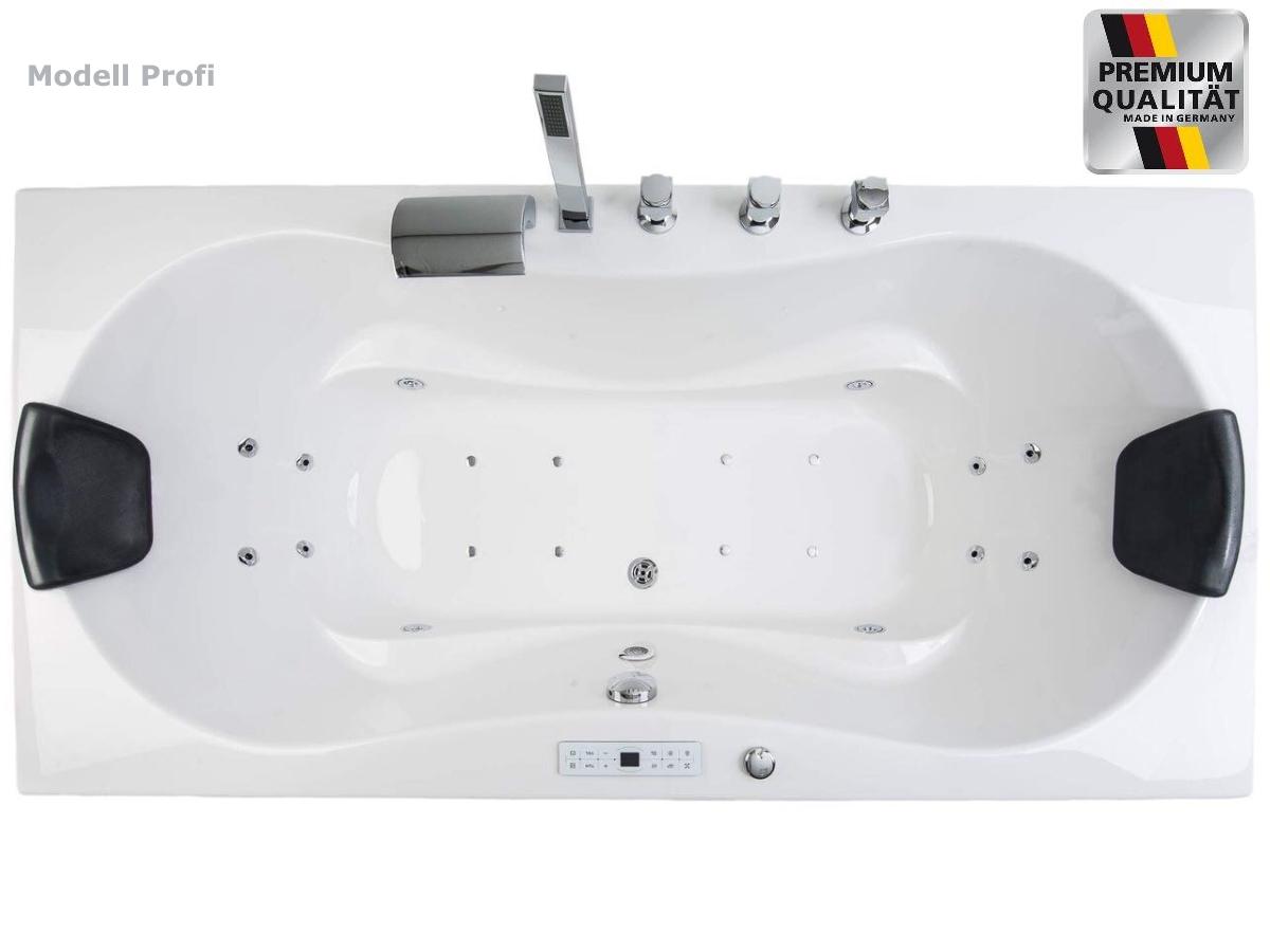 Whirlpool Badewanne Eckwanne Rechts Links Mit Armauflagen 190 X 90 Cm Mit Led Supply24