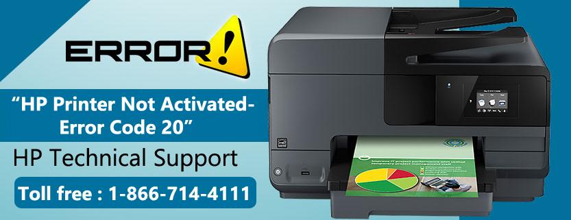 HP Printer Not Activated- Error Code 20