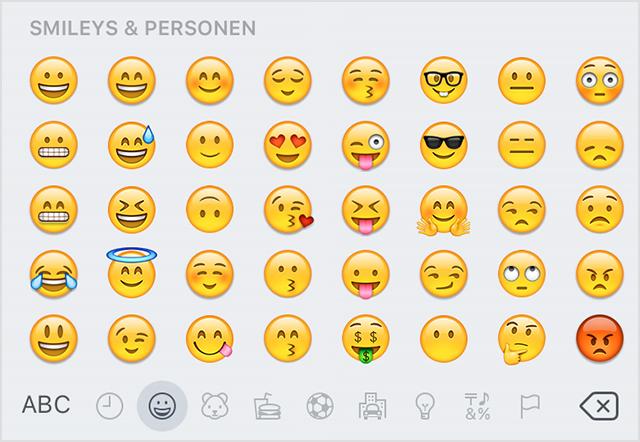 Smileys handy bedeutung SMS