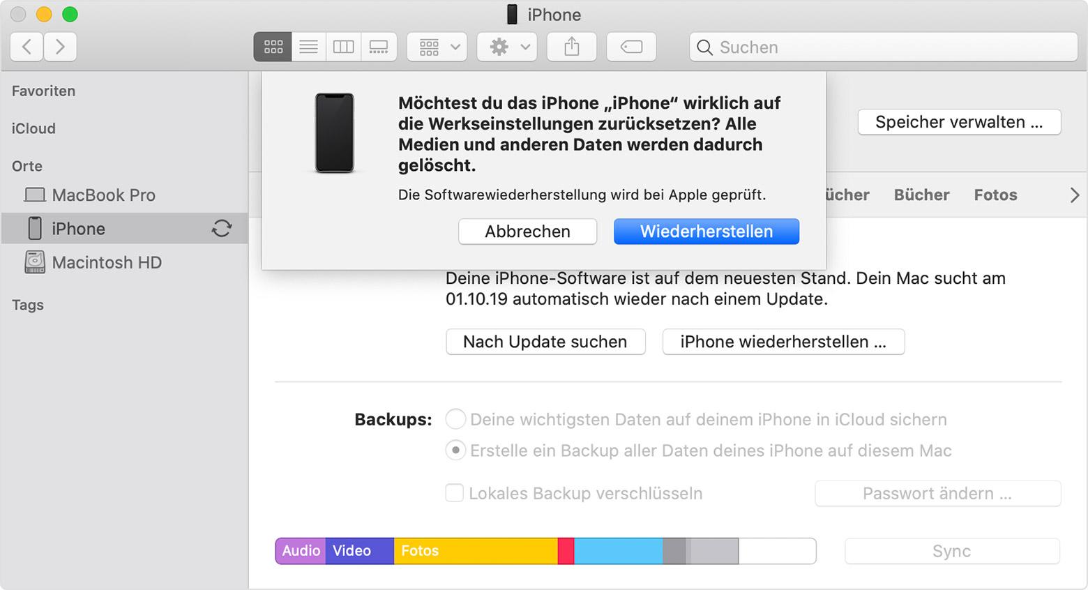 Iphone Ipad Oder Ipod Auf Die Werkseinstellungen Zurucksetzen Apple Support