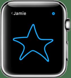 Desenho de uma estrela azul