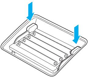 Pression sur les leviers pour les réinsérer dans le boîtier jusqu'à ce qu'ils s'enclenchent