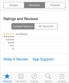 iOS review section
