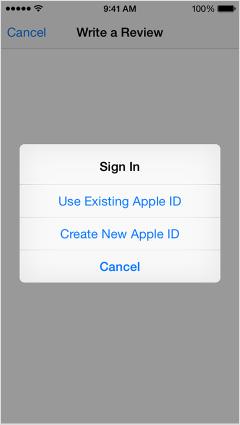Apple ID signin screen