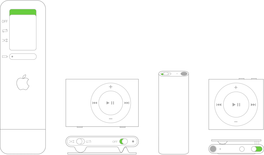 Botón de encendido del iPodshuffle