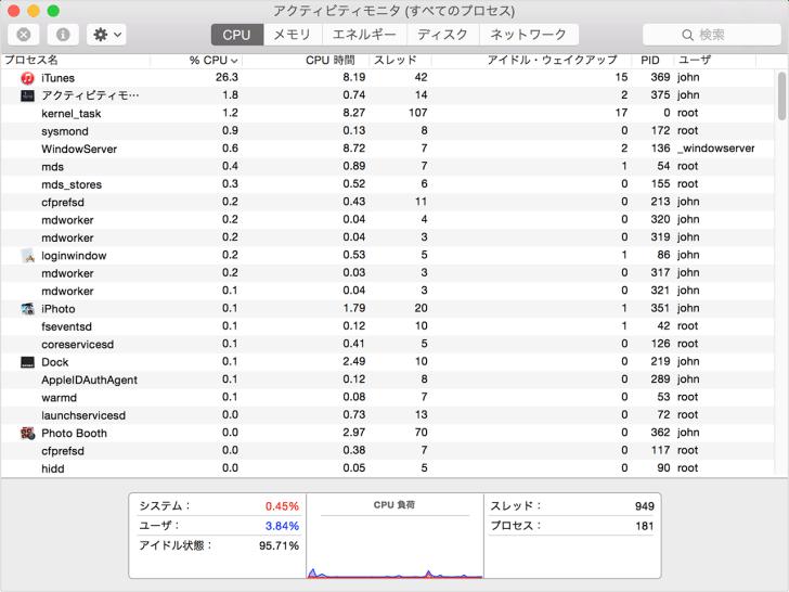 Mac のパフォーマンス、バッテリーの駆動時間、動作時温度、ファンの動作への App による影響を調べる - Apple サポート