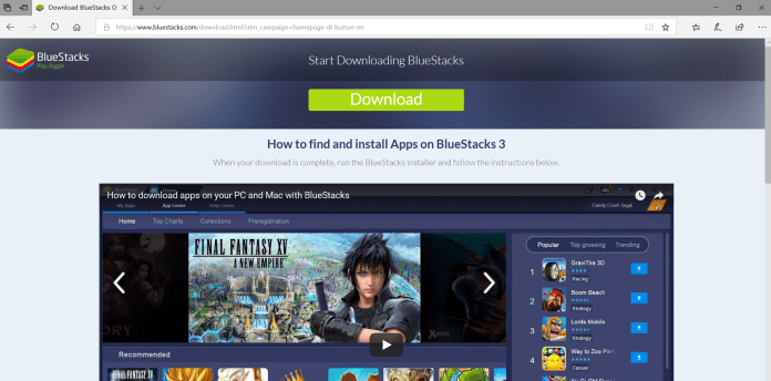 BlueStacks gaming on PC