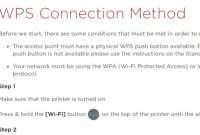 Wireless WPS Connection Method