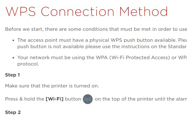 Wireless WPS Connection Method