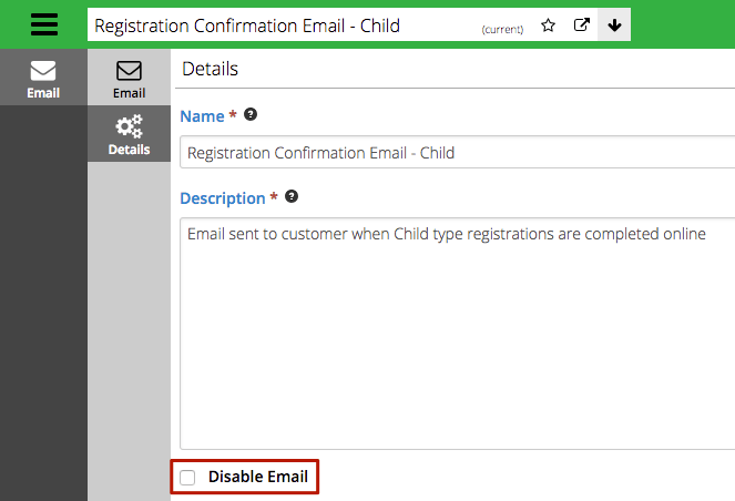 Disable Automated Email