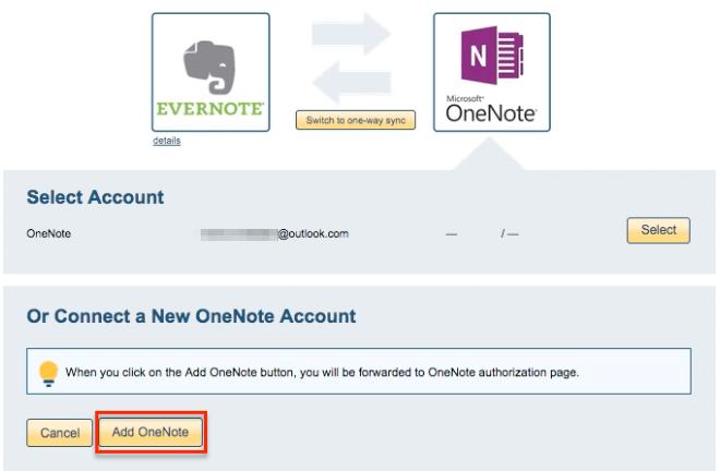 OneNote account