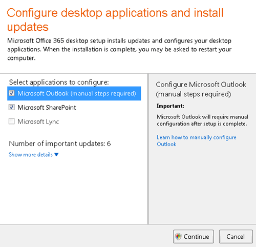 Configure desktop applications and install updates