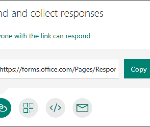 Send And Collect Responses For Your Form