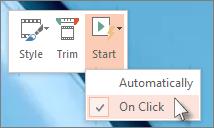 Set  your 'Start' settings