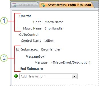 A macro that contains an error-handling submacro.