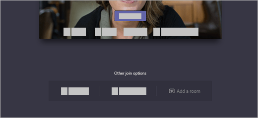 On the join screen under Other join options, there's an option to Add a room