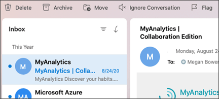 Ignore Conversation button in Outlook for Mac.