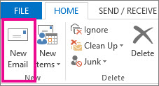 New mail command