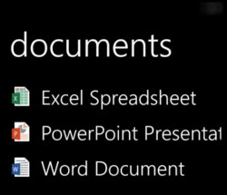 Desktop documents display on Windows Phone when Office Remote is running