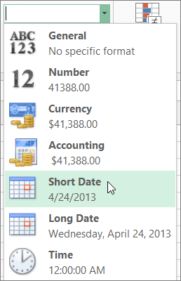 Short Date command on the Number Format gallery to fix the ##### error