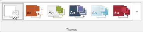 Screenshot of Themes toolbar