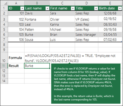 VLOOKUP Example 5