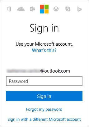 Screenshot showing the Microsoft account sign in screen. www.office.com/setup