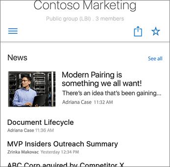 Team News on Site Screenshot