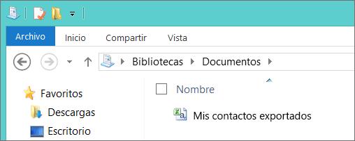 Escriba un nombre para el archivo que se va a exportar.