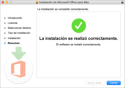 Muestra la última página del proceso de instalación, lo que indica que se realizó correctamente.