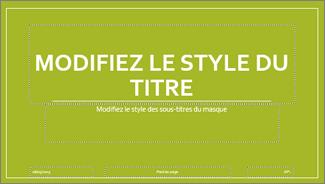 Disposition Diapositive de titre (thème de base) dans PowerPoint