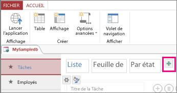 Ajouter un mode Liste à partir d'un client Access