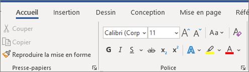 Ajouter et mettre en forme du texte dans Word