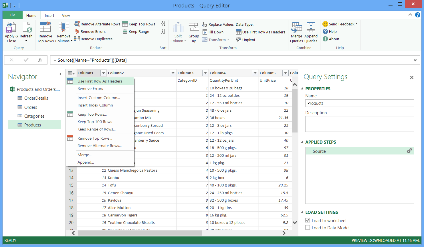Kombinera Data Fr N Flera Datakallor Power Query