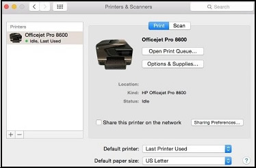 Printers & Scanners Mac Printer Driver