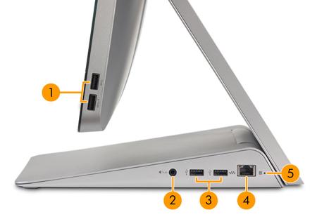 Image of the right I/O ports