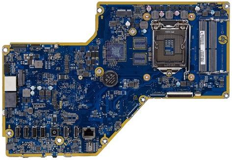 Vulcan-UF motherboard top view