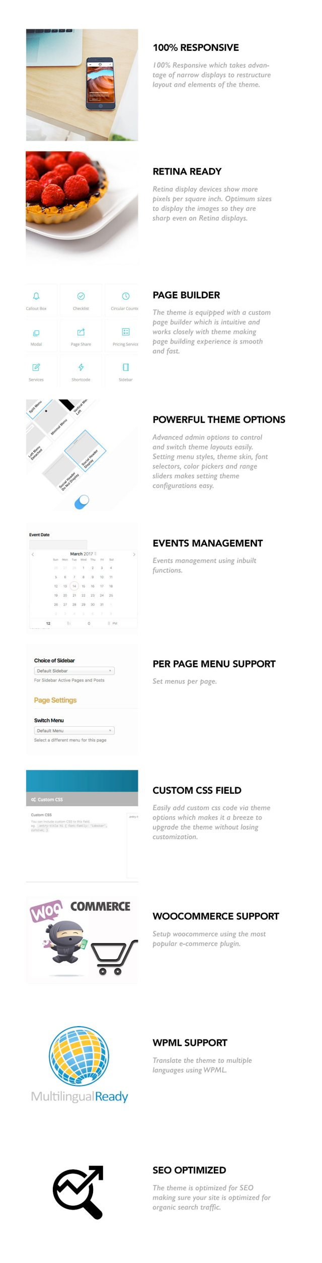 Plumeria Restaurant and Cafe Theme for WordPress 3