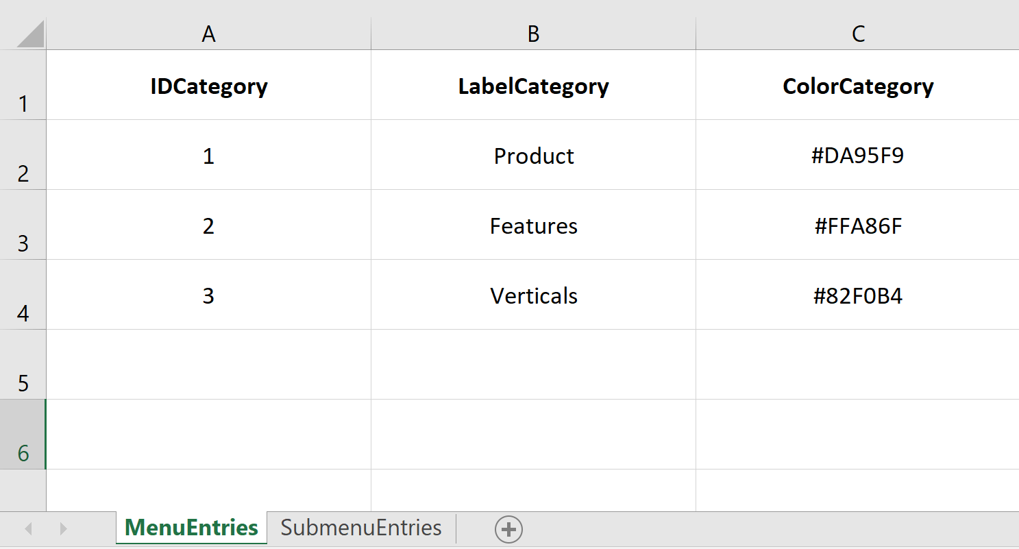 Create Navigation Menus Generated From Excel Intuiface